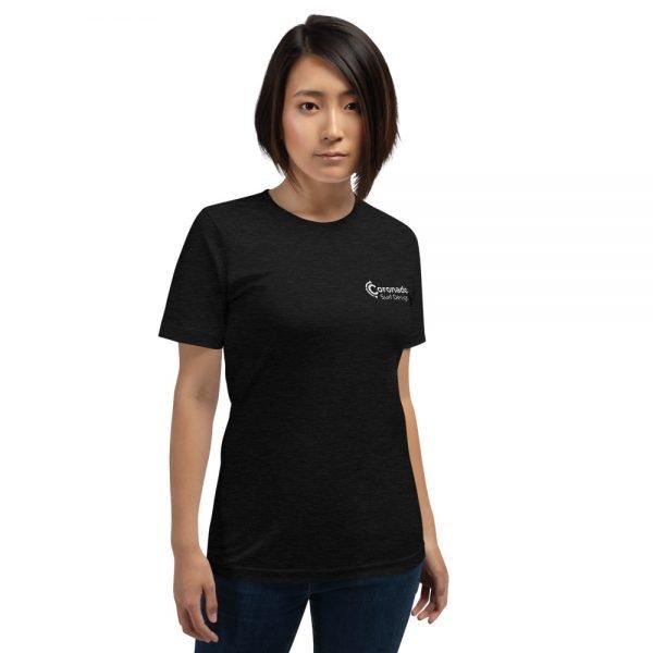 Coronado Classic Women's Short Sleeve T-shirt (Black Heather front)