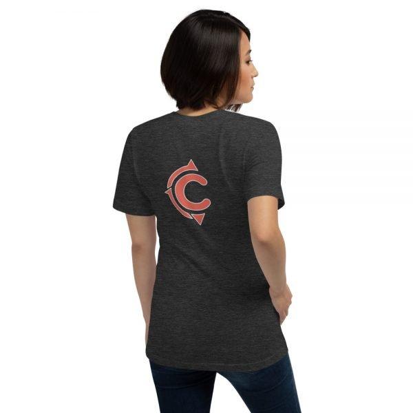 Coronado Classic Women's Short Sleeve T-shirt (Dark Grey Heather back)