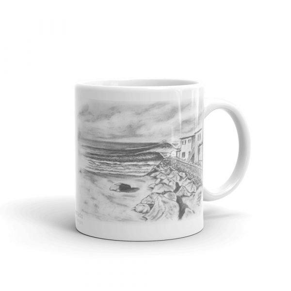 Pepperoni Point White glossy mug (11 oz) right side