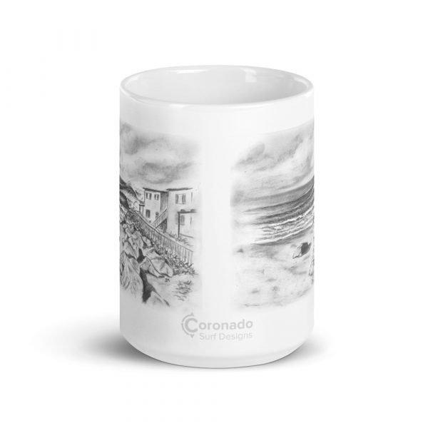 Pepperoni Point White glossy mug (15 oz)