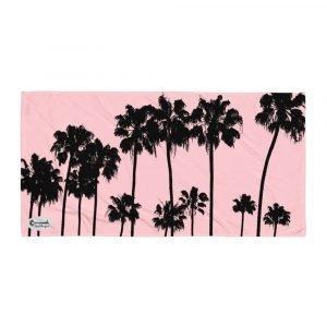 Alameda Ave. Palm Trees Towel (Pink)