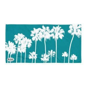 Alameda Ave. Palm Trees Towel (Turquoise)
