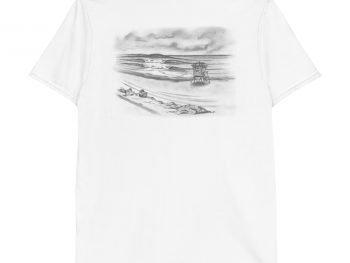 Coronado Shipwrecks Beach Short-Sleeve Unisex T-Shirt (back)