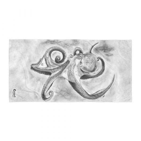 Octopus Ink Cloud Beach Towel