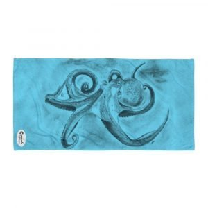 Octopus Ink Cloud Blue Reef Beach Towel