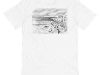 Pepperoni Point Unisex Pocket T-Shirt (Back)