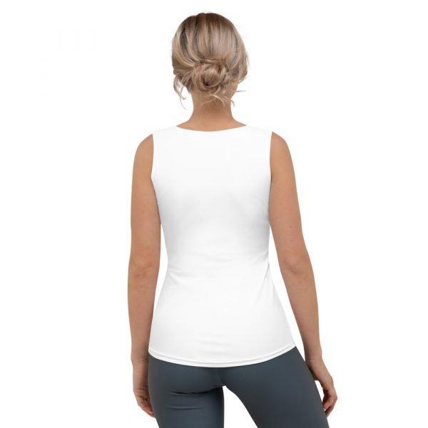Women's Palm Tree Shirt; White Tank Top back