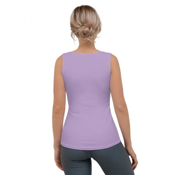 Women's Tank Top with Palm Trees (Purple) back