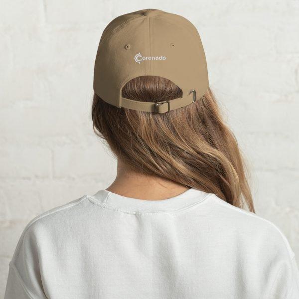 Coronado Island Cotton Hat khaki (back)