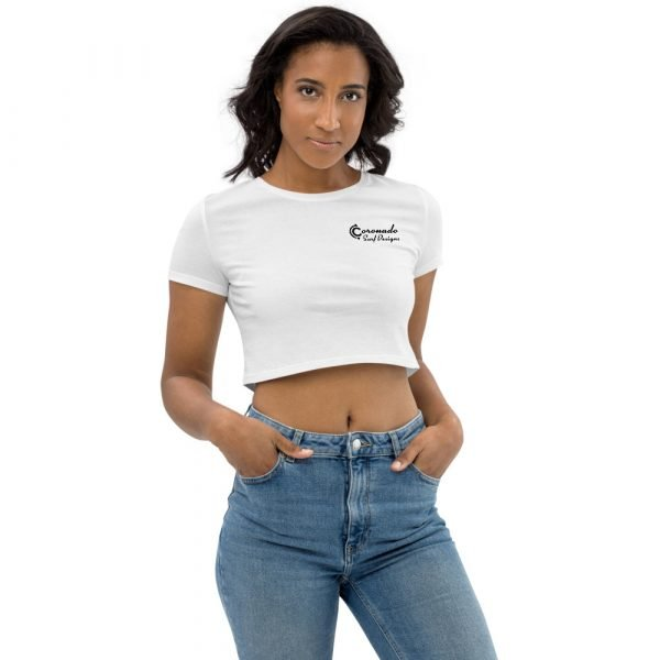 Organic Cotton White Crop Top