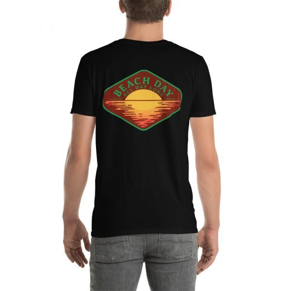 Beach Day Short-Sleeve Unisex T-Shirt (black back)