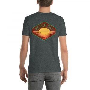 Beach Day Short-Sleeve Unisex T-Shirt (dark heather back)