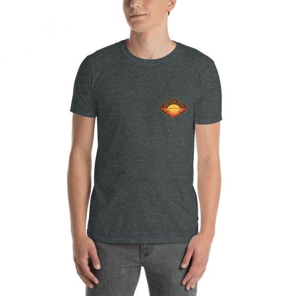 Beach Day Short-Sleeve Unisex T-Shirt (dark heather front)