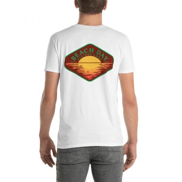 Beach Day Short-Sleeve Unisex T-Shirt (white back)