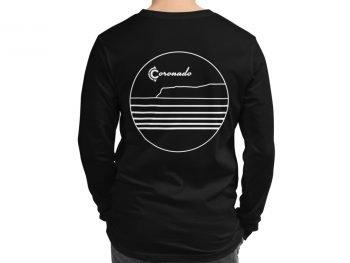 Coronado Outlines Long Sleeve Unisex T-shirt (Black) back