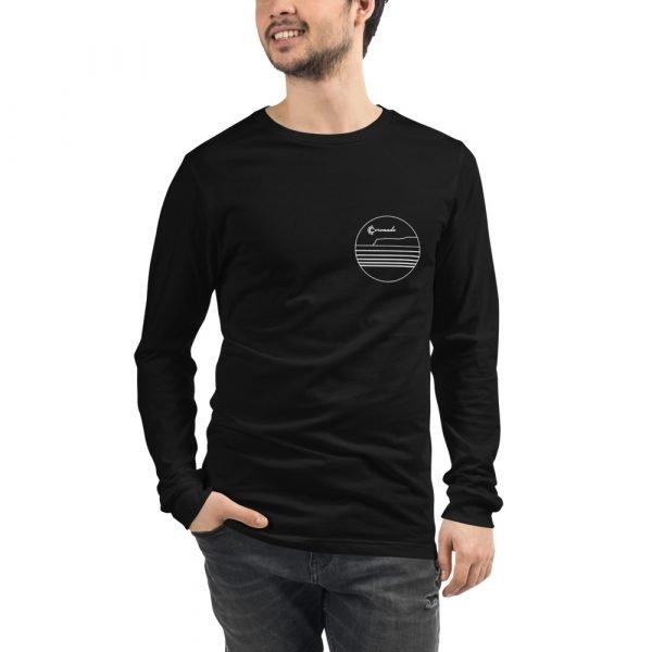 Coronado Outlines Long Sleeve Unisex T-shirt (Black) front