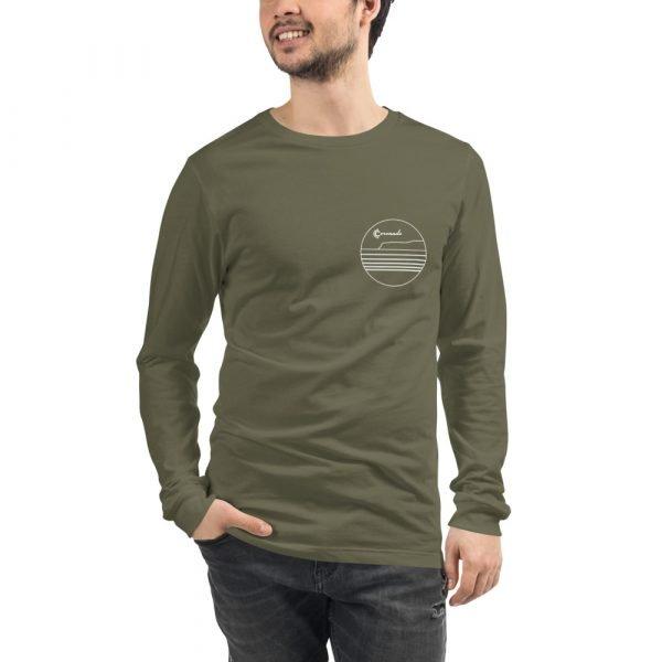 Coronado Outlines Long Sleeve Unisex T-shirt (Military Green) front
