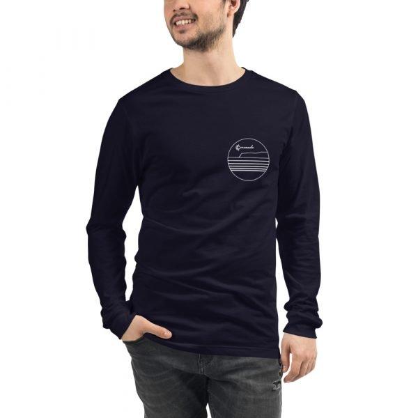 Coronado Outlines Long Sleeve Unisex T-shirt (Navy) front