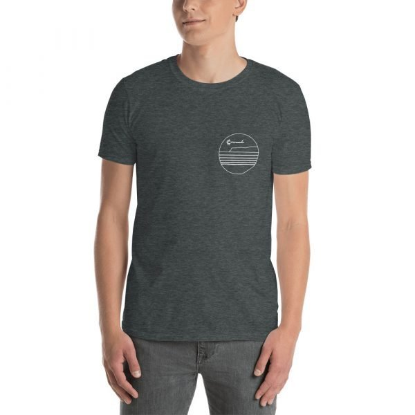 Coronado Outlines Short-Sleeve Unisex T-Shirt (Darks) Dark Heather front