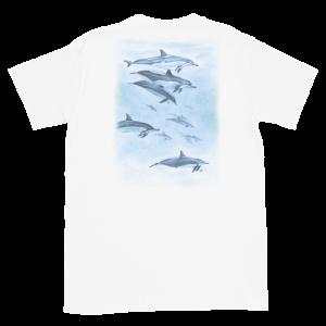 Deep Blue Dolphins Short-Sleeve Unisex T-Shirt (back)