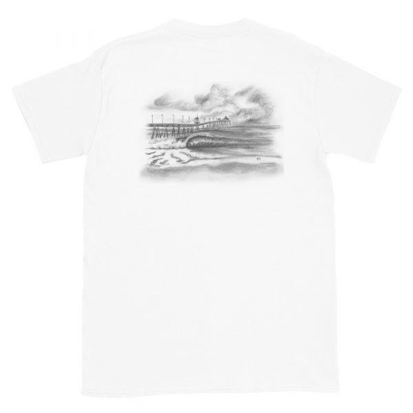 Imperial Beach Pier Northside Short Sleeve Unisex T-shirt (back)